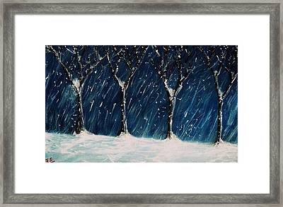 Framed Print featuring the painting Winter's Snow by John Scates