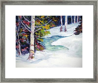 Winter's Solace Framed Print by Mary Sonya  Conti