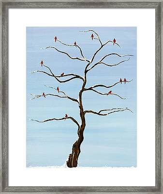 Winters Stark Beauty Framed Print