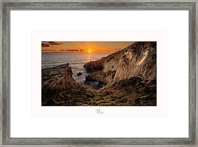 Winter's Sunset Framed Print