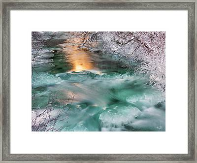 Winters Texture And Light Framed Print by Leland D Howard