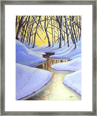 Framed Print featuring the painting Winter's Warmth by Susan DeLain