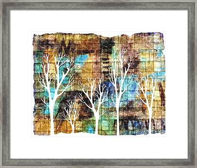 Winterscape 2 Framed Print by Mimo Krouzian