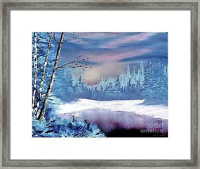 Winterscape Framed Print