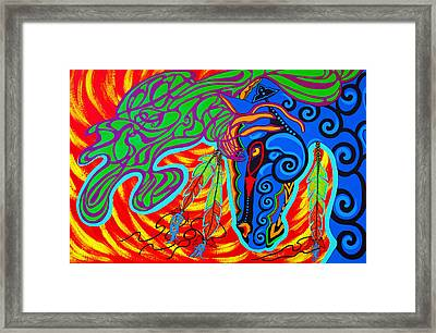 Framed Print featuring the painting Winter Spirit by Debbie Chamberlin