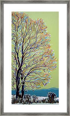 Wintertainment Tree Framed Print