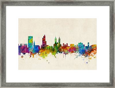 Winterthur Switzerland Skyline Framed Print
