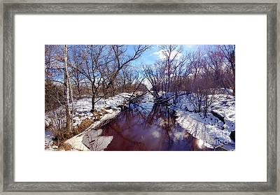 Wintertime In Necedah  Framed Print by Ricky L Jones
