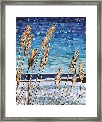 Wintertime On Lake Erie Framed Print
