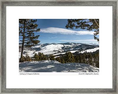 Framed Print featuring the photograph Wintertime View From Hellroaring Overlook In Yellowstone National Park by Carol M Highsmith
