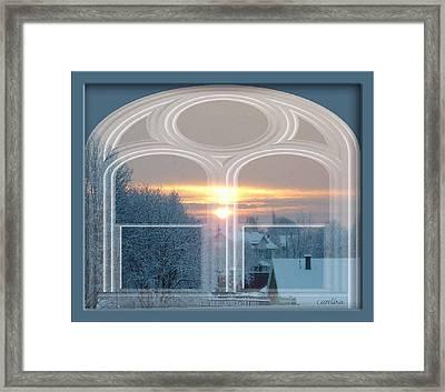 Winterview From My Window Framed Print by Carola Ann-Margret Forsberg