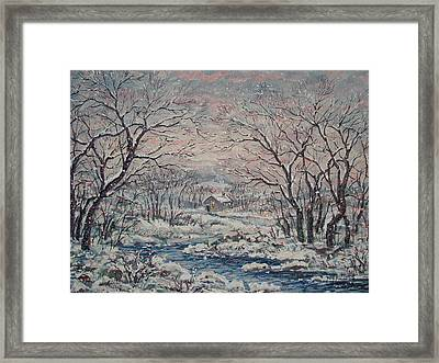 Wintery December Framed Print