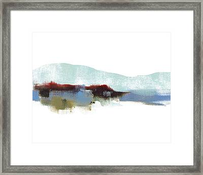 Wintery Mountain Mix Framed Print by Jacquie Gouveia