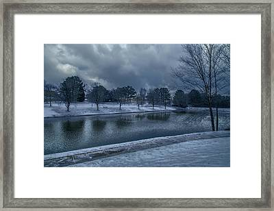 Icy Reflections  Framed Print by Dennis Baswell