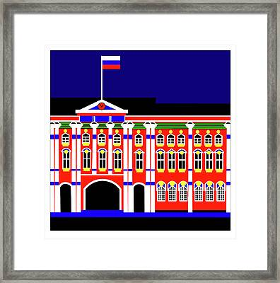 Winther Palace St Petersburg Framed Print by Asbjorn Lonvig