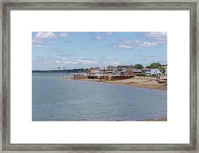 Winthrop From Deer Island Framed Print by Brian MacLean