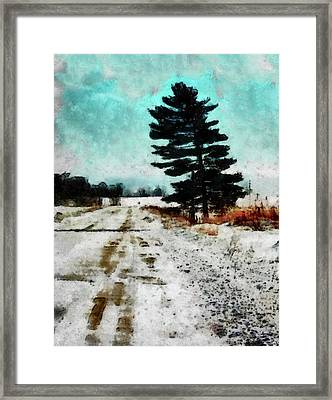 Wintry Altona Road Framed Print