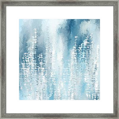 Wintry Frenzy Framed Print