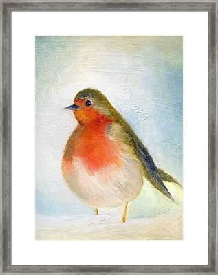 Wintry Framed Print by Nancy Moniz