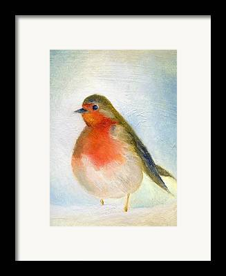 Robin Paintings Framed Prints