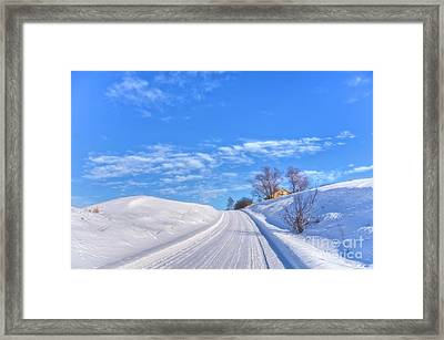 Wintry Road Takes You... Framed Print
