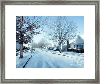 Wintry Snow Fall - Georgia Framed Print