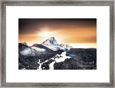 Wintry Sunset Framed Print by Alessandro Giorgi Art Photography