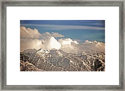 Wintry Wasatch Range Framed Print by Steve Ohlsen