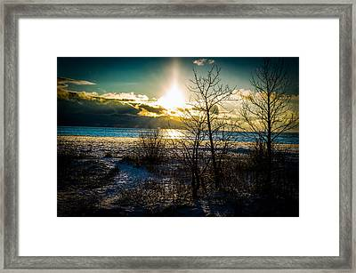 Stopping By Woods On A Snowy Evening Framed Print by Esther Kather