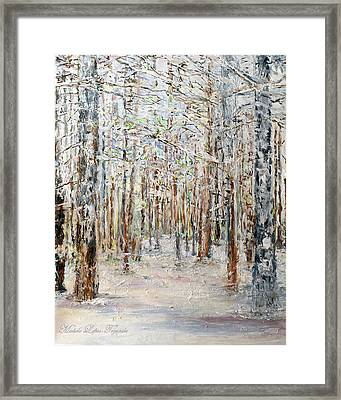 Wintry Woods Framed Print