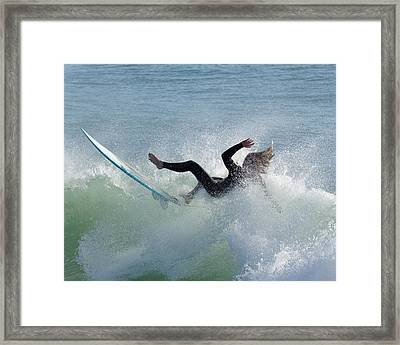 Wipe Out - California Surfer Framed Print