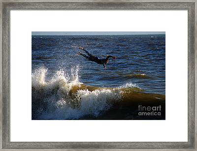 Wipe Out Framed Print by Clayton Bruster