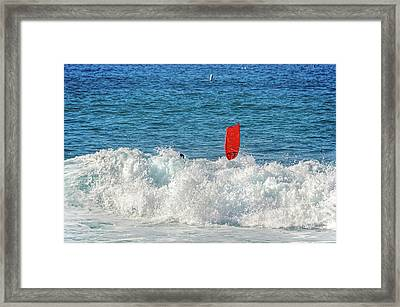 Framed Print featuring the photograph Wipe Out by David Lawson