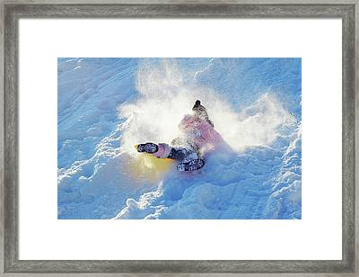 Wipe Out Framed Print by Randy Steele