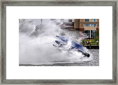 Wipe Out Framed Print by Wes Iversen