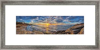 Wipeout Beach Framed Print by Peter Tellone
