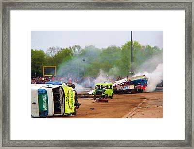 Wipeout Framed Print by Sharon Lisa Clarke