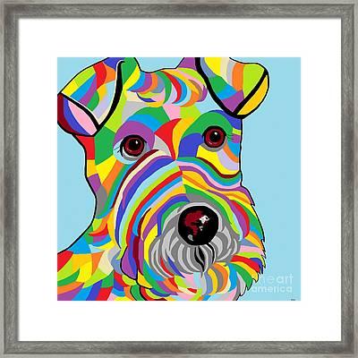 Wire Fox Terrier Framed Print by Eloise Schneider