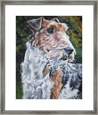 Wire Fox Terrier Framed Print by Lee Ann Shepard