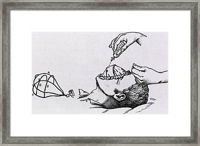Wire Frame Supports A Muslin Cloth Framed Print by Everett