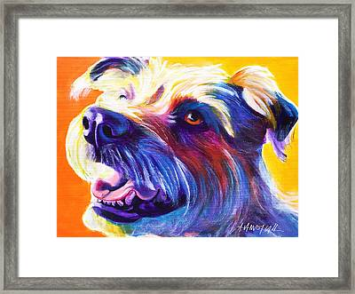 Wire Hair Terrier - Penny Framed Print by Alicia VanNoy Call