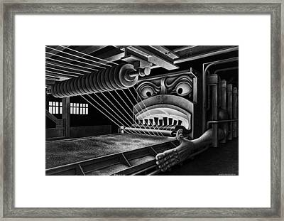 Wire Hell Fire Framed Print by Boris Artzybasheff