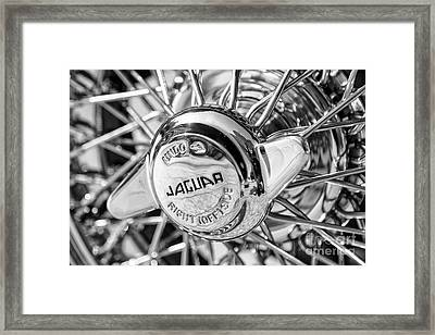Framed Print featuring the photograph Wire Wheel Black And White by Dennis Hedberg