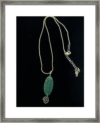 Wire Wrapped Pendant Framed Print