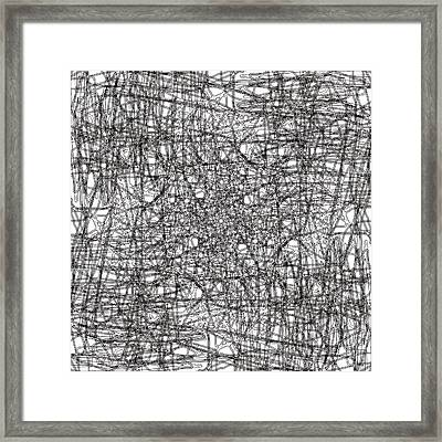 Wired Abstraction Framed Print