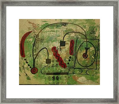 Wired Composition Enigma Framed Print