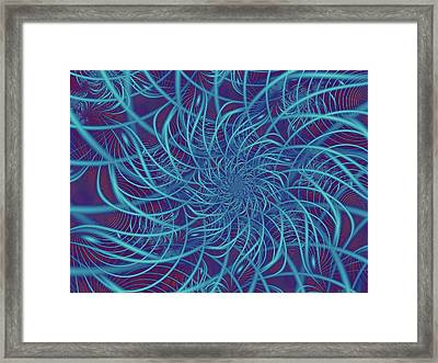Wired In Blue Framed Print