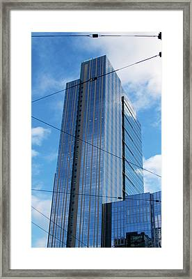 Framed Print featuring the photograph Wired In Seattle - Skyscraper Art Print by Jane Eleanor Nicholas