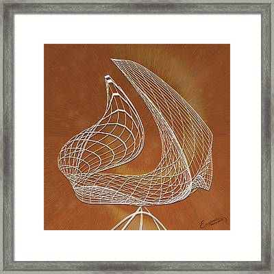 Wires Of Illusions Framed Print