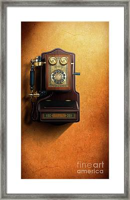 Wired To The Wall Framed Print by Bedros Awak